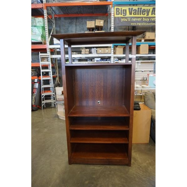MODERN BOOKSHELF 79 INCHES TALL 4 FOOT WIDE  22 1/2 INCHES DEEP