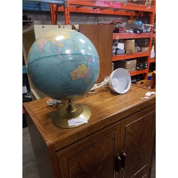 World globe and spring loaded light