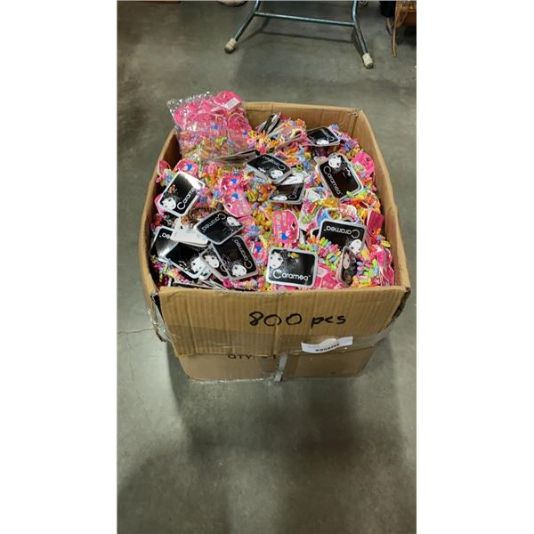 LARGE BOX OF HAIR ACCESSORIES - APPROX 800 PIECES