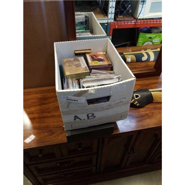 MITSUBISHI STEREO TUNER AND BOX OF CDS