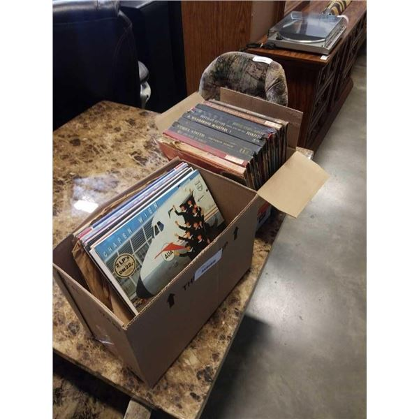 2 boxes of records 1920s-50s