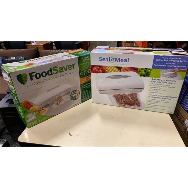 2 VACUUM BAG SEALERS - SEAL A MEAL AND FOODSAVER
