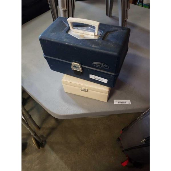 Tackle box and jewelry box with contents