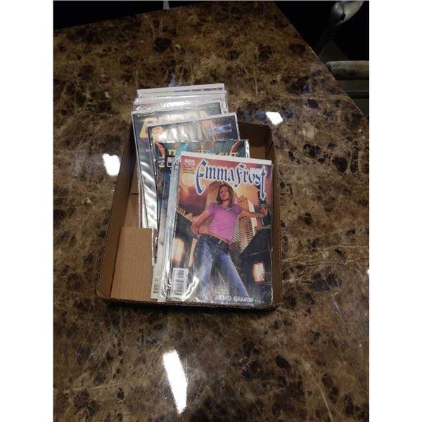 Box of collectible comics