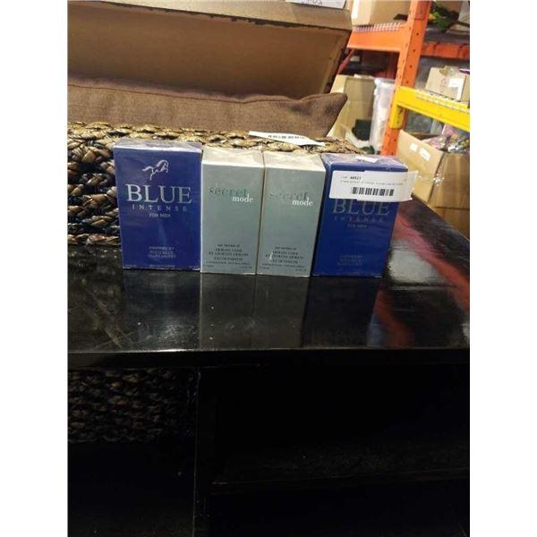 4 copy perfumes - blue intense and secret mode