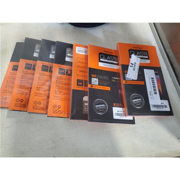 Lot of new note 8  tempered glass screen protectors