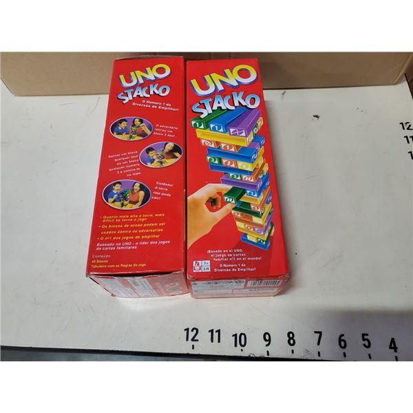 2 NEW SEALED UNO STACKO GAMES RETAIL $60 EA