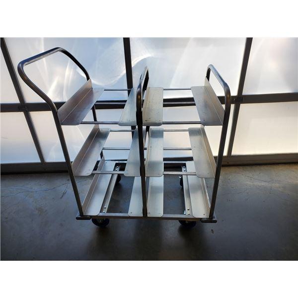 2 tier aluminum tote cart