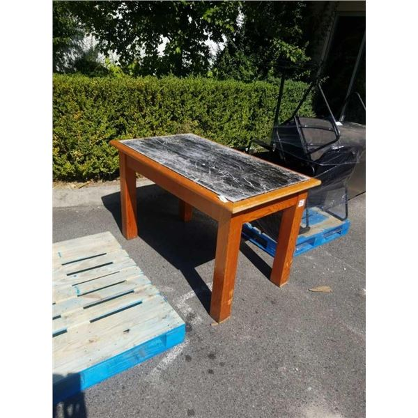MARBLE TOP TABLE 57 INCHES x 33 x 35 TALL