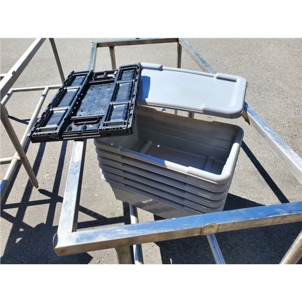 Lot of totes and folding crate