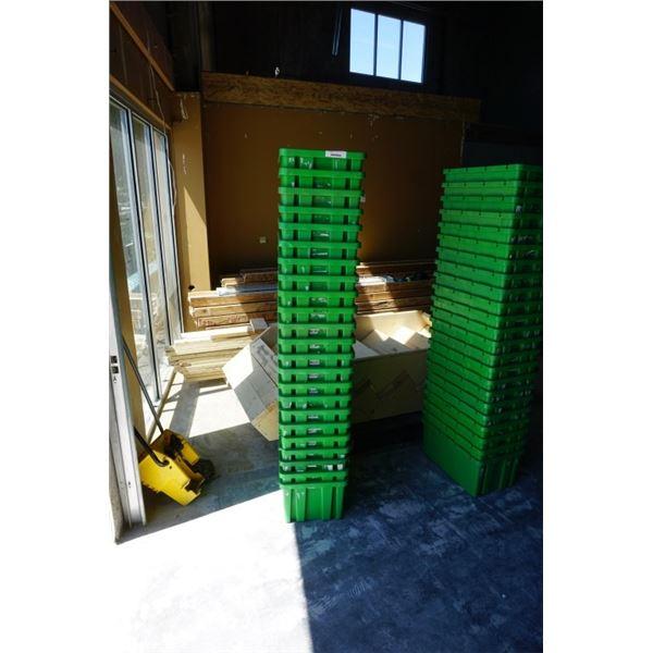 25 GREEN STACKING TOTES
