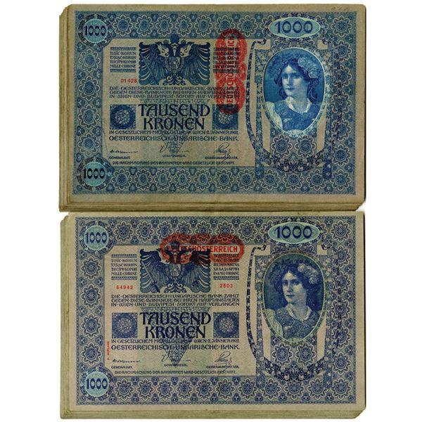 Austrian Hungarian Bank, 1902 Banknote Assortment