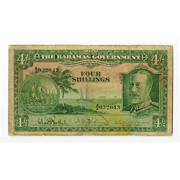 Bahamas Government. L.1919 (1930) Issue Banknote.