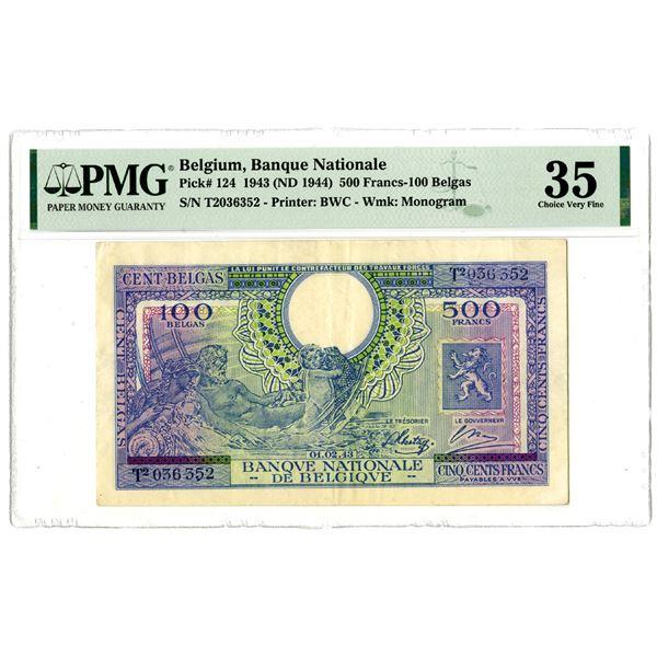 Banque Nationale de Belgique, 1943 (ND 1944) Issued Banknote