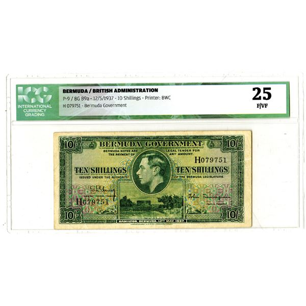 Bermuda Government, 1937 Issued Banknote