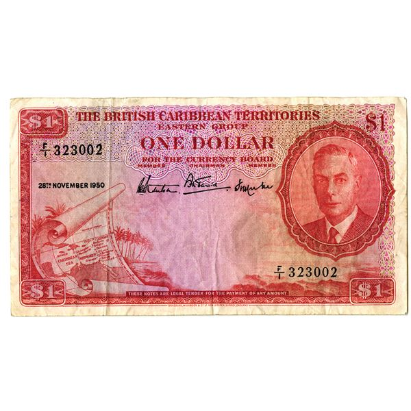 British Caribbean Territories, Eastern Group, 1950 Issued Banknote