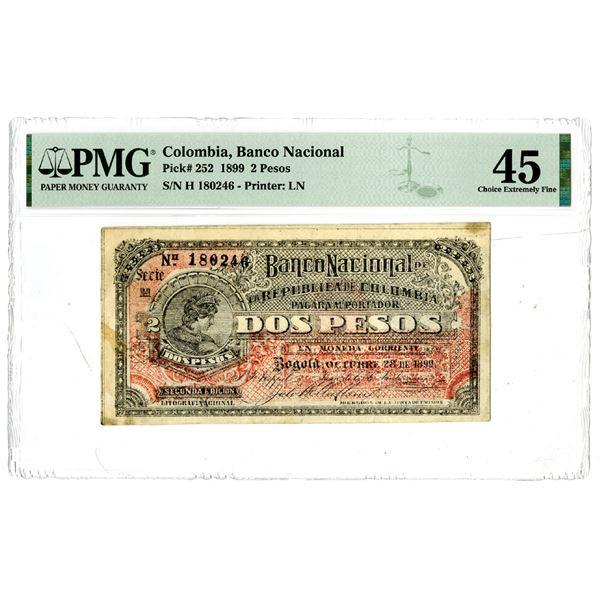Banco Nacional de la Republica de Colombia, 1899 Issued Banknote