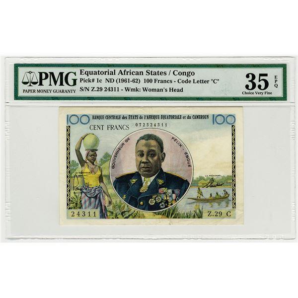 Banque Centrale des Etats de l'Afrique Equatoriale et du Cameroun. ND (1961-1962). Issued Banknote.