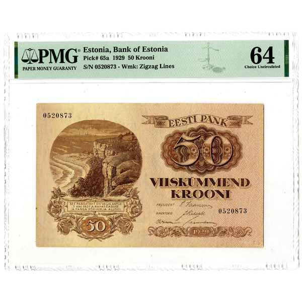 Bank of Estonia, 1929 Issued Banknote