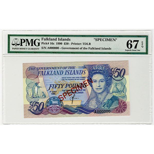 Government of the Falkland Islands. 1990. Specimen Banknote.