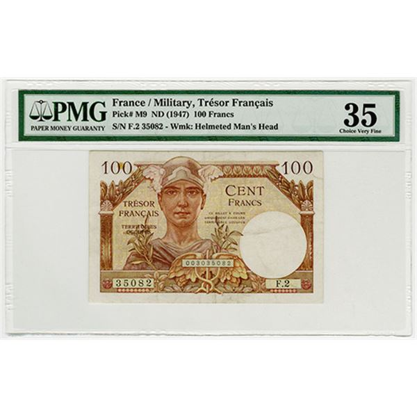 Tresor Francais (Military Issue). ND (1947). Issued Banknote.