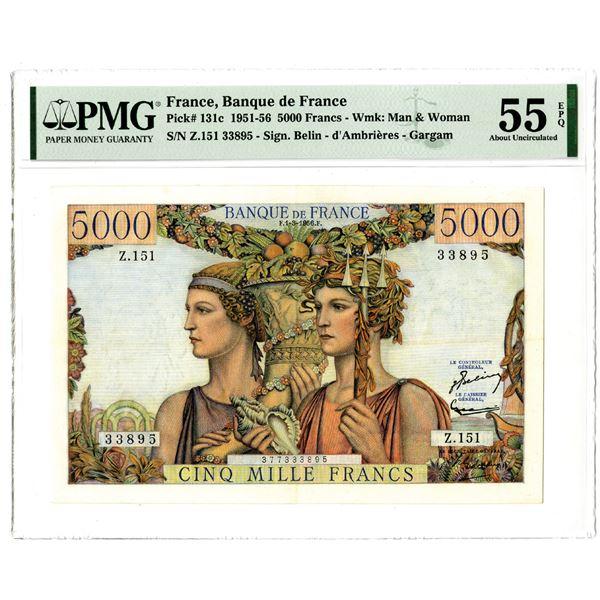 Banque de France, 1951-56 Issued Banknote