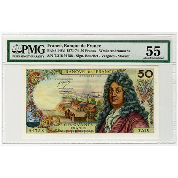Banque de France. 1973. Issued Banknote.