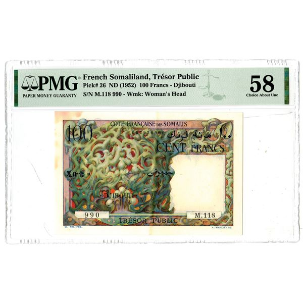 Tresor Public, ND (1952) Issued Banknote