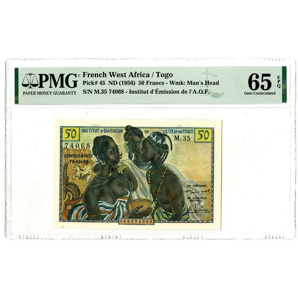 Institut d'Emission de l'A.O.F., ND (1956) Issued Banknote