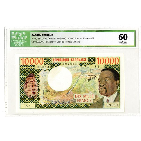 Republique Gabonaise. ND (1974). Issued Banknote.