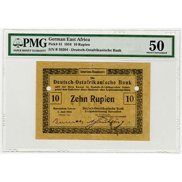 Deutsch-Ostafrikanische Bank. 1916. Issued Banknote.