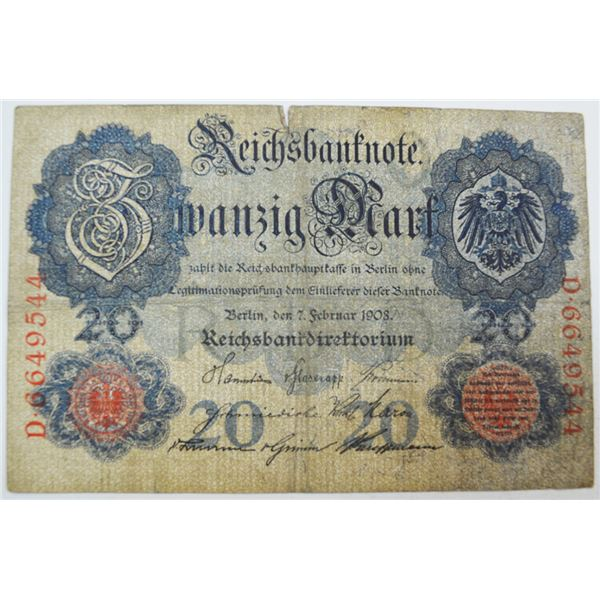 Imperial - Reichsbanknote, 1906 to 1914 Banknote Assortment