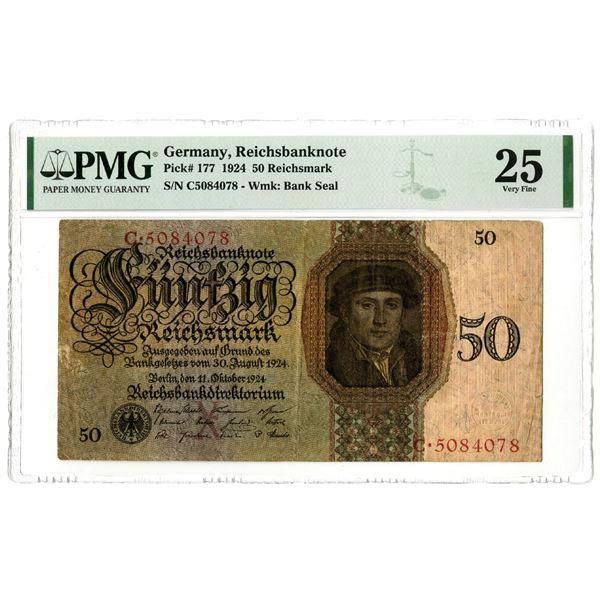 Reichsbanknote, 1924 Issued Banknote