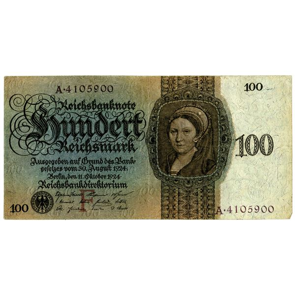 German Gold Discount Bank1924 Issued Banknote