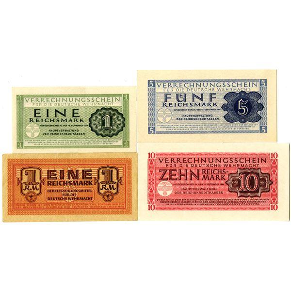 German Banknote Quartet, ca. 1942-44