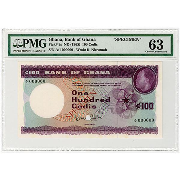 Bank of Ghana. ND (1965). Specimen Banknote.