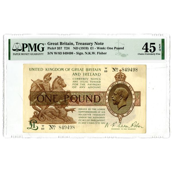 Great Britain Treasury Note, ND (1919) Issued Banknote