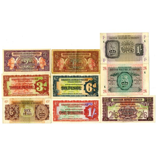 Great Britain Military Banknotes and Coins, ca.1943-1948