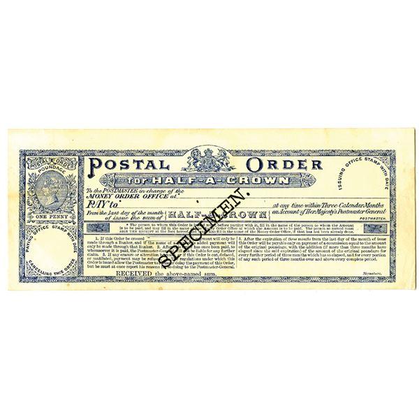 Her Majesty's Postmaster General, Specimen Postal Order, ND (ca.1850-70's)