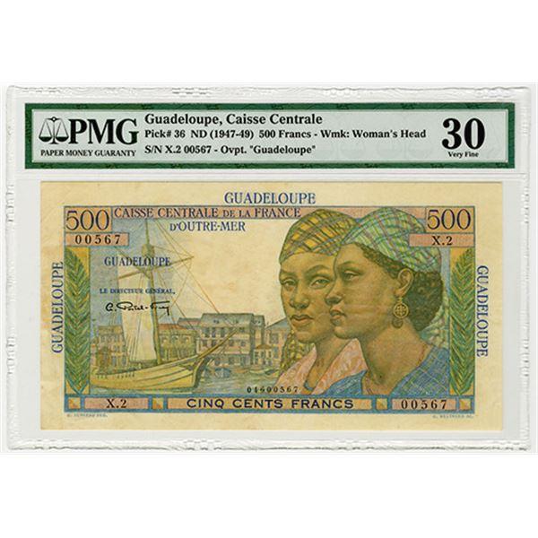 Caisse Centrale de la France d'Outre-Mer. ND (1947-1949). Issued Banknote.