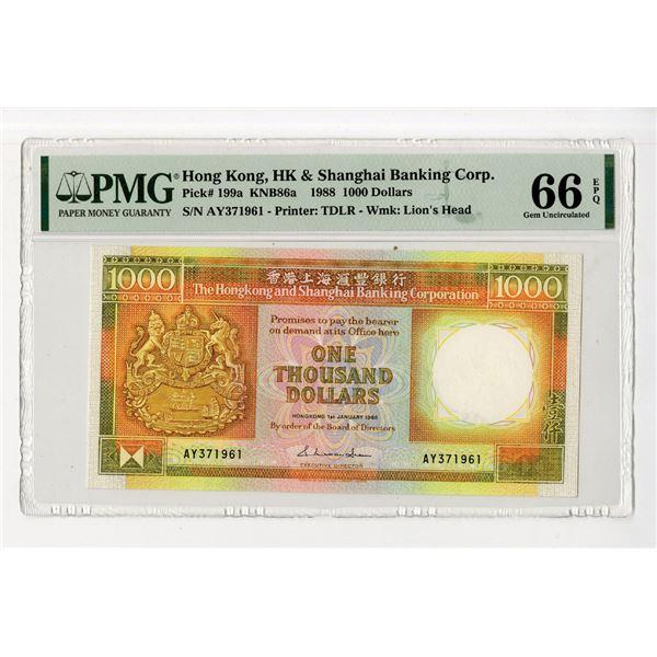 Hongkong & Shanghai Banking Corp., 1988, High Grade Issued Note.