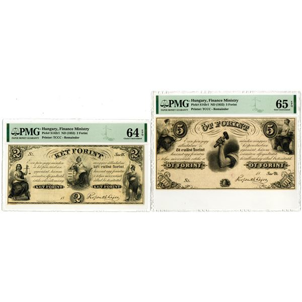 Finance Ministry, ND (1852) Remainder Banknote Pair