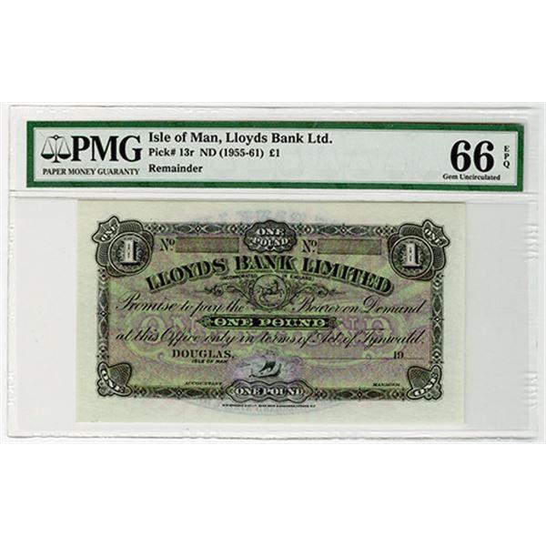 Lloyds Bank Ltd.. ND (1955-1961). Remainder Banknote.