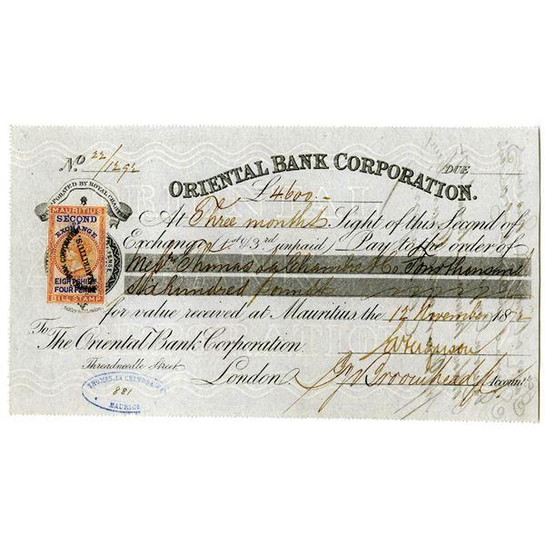 Oriental Bank Corp. 1872 I/U Second Exchange