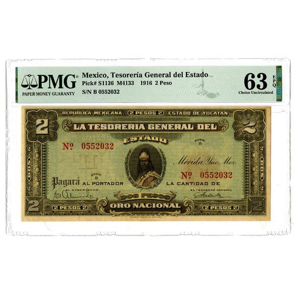 Tesoreria General del Estado, 1916 Issued Banknote