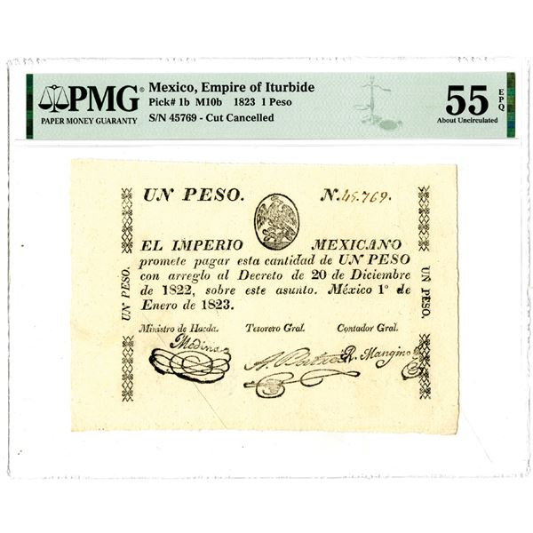 Empire of Iturbide, 1823 Issued Banknote