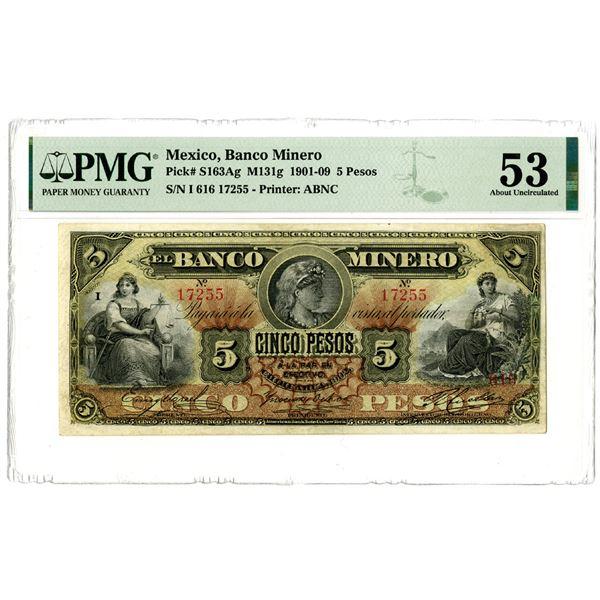 Banco Minero, 1901-09 Issued Banknote
