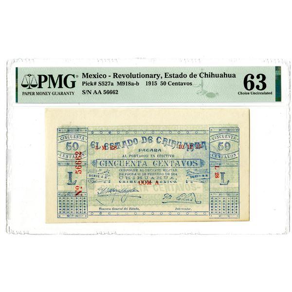 Estado de Chihuahua, 1915 Issued Banknote