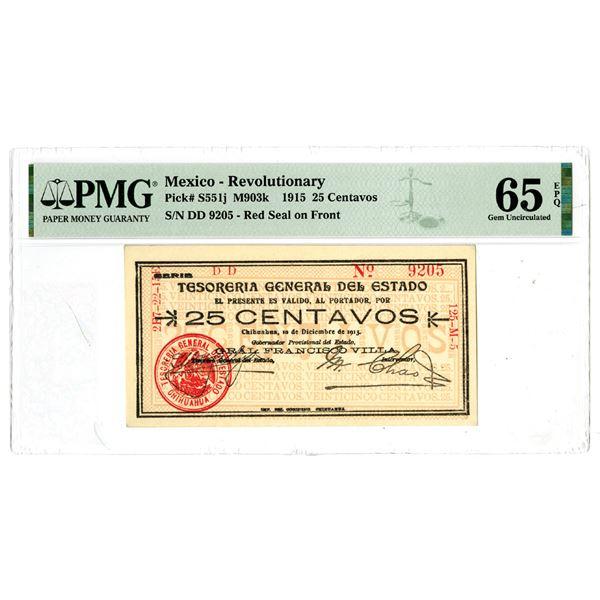 Tesoreria General del Estado, 1915 Issued Banknote