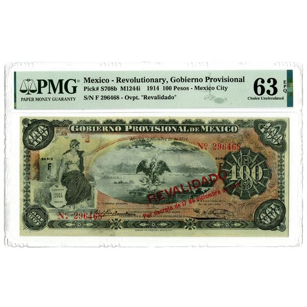 Gobierno Provisional de Mexico, 1914 Issued Banknote